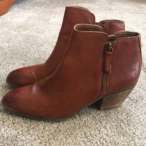 Frye Cognac Booties NEW